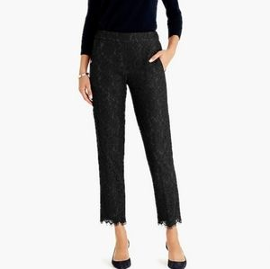 J. Crew Lace Scalloped Hem Cropped Pants